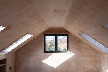 Loft Renovation Conversion Project, Brown Plastered Walls